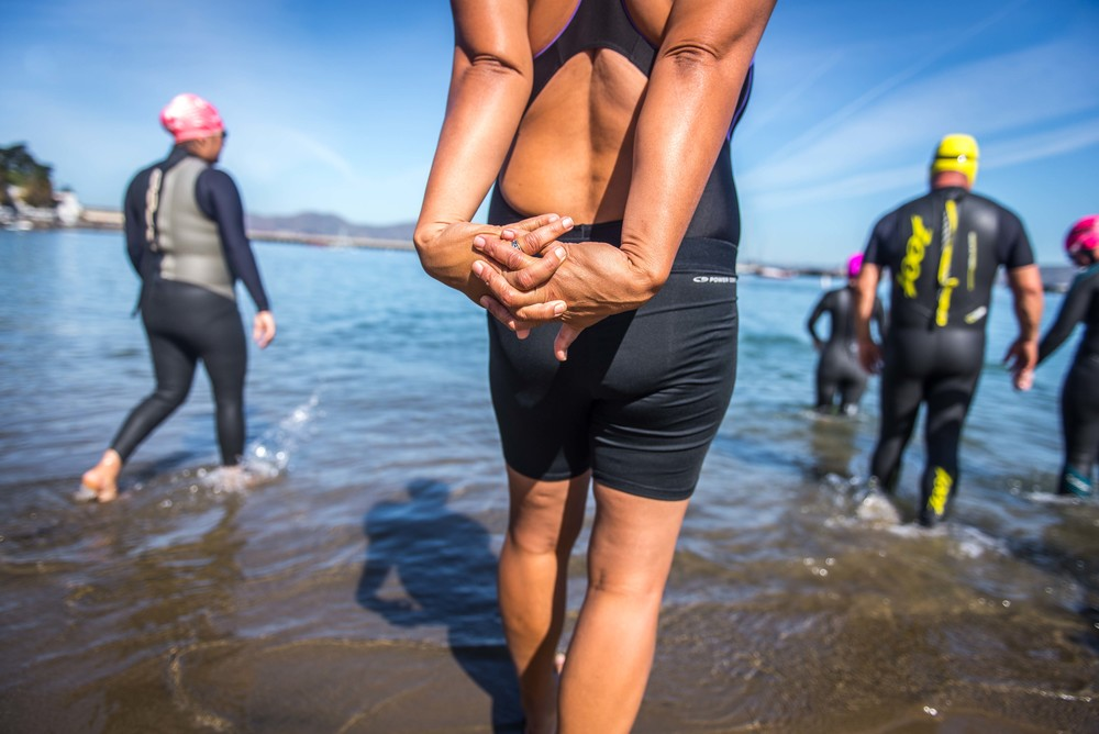 A group of veterans braves the waters of the San Francisco Bay for challenge, camaraderie and support. And to swim the two miles from Alcatraz Island to San Francisco.