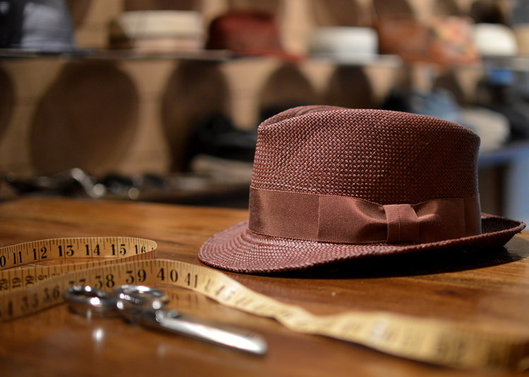 Claude fedora in tobacco panama straw — East Village Hats 3c888d8fe4a