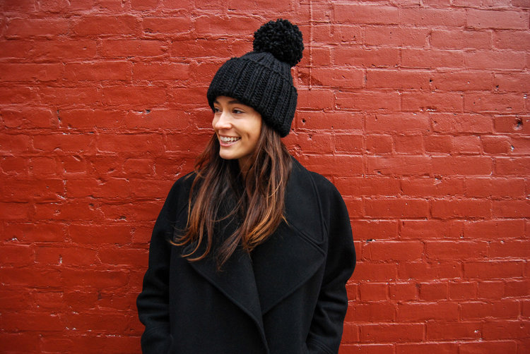 2644aeeea299bd Hand-knit Black Winter Hat by Two Foxes — East Village Hats