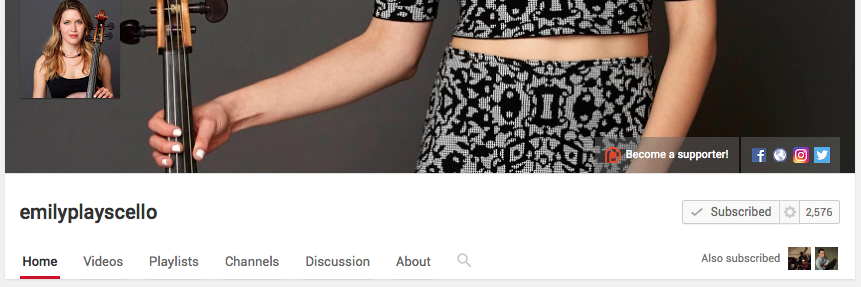 Exhibit B: A healthy YouTube following, which she monetizes with Patreon.