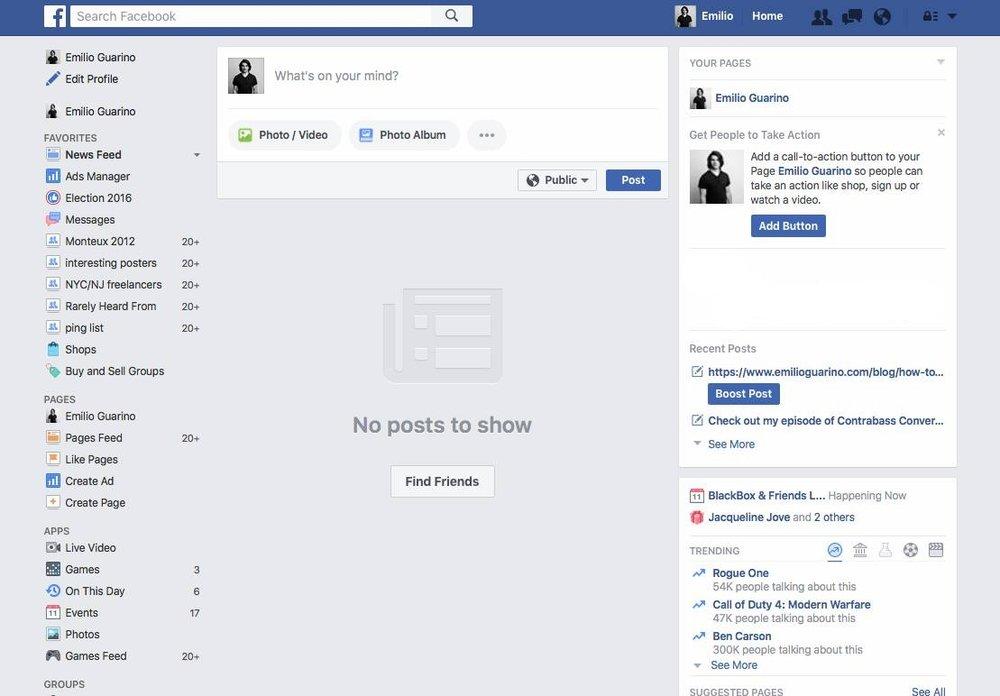 No Facebook Newsfeed