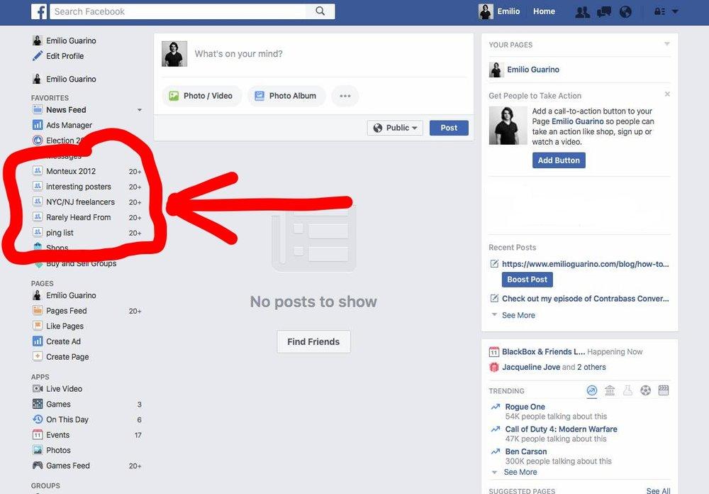 Make Facebook Lists