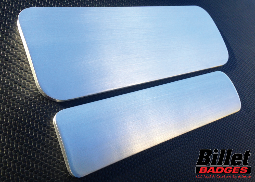 Dome-Face Rectangle Billet Badges