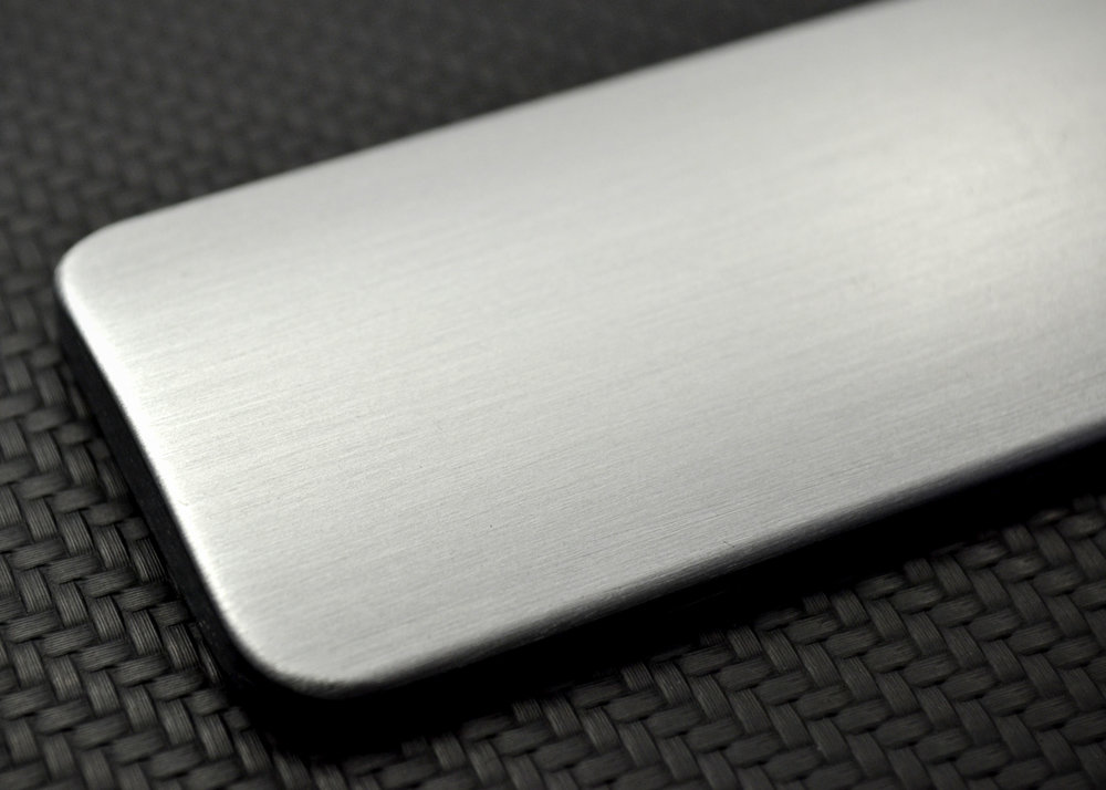 Brushed Raw Aluminum