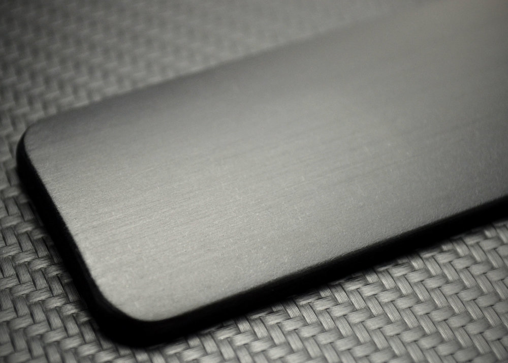 Brushed Carbon-Black Aluminum