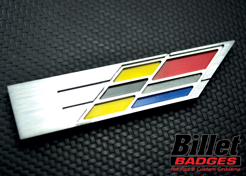Brushed Aluminum/Yellow, Red, Black, Medium Blue and Charcoal Grey Paint Fill
