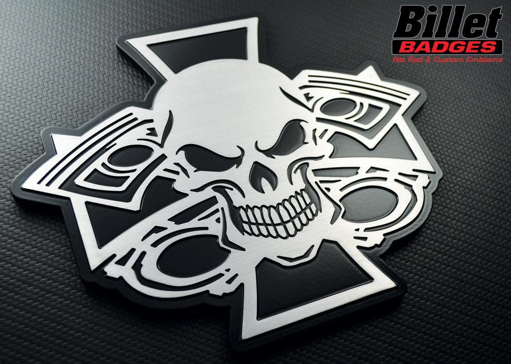 Brushed Aluminum/Satin Black Paint Fill