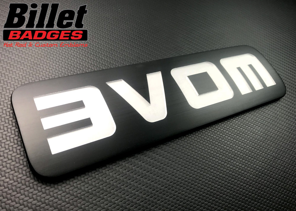 """""""MOVE"""" mirrored for EZ-GO golf cart.  Brushed carbon black / white recessed cavities."""