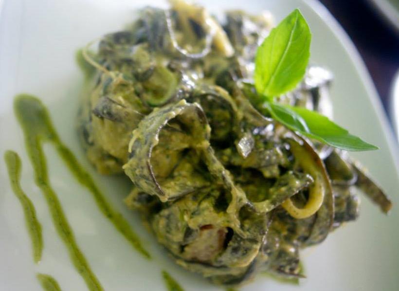 SEA SPAGHETTI WITH HEMP PESTO   (recipe coming soon!)