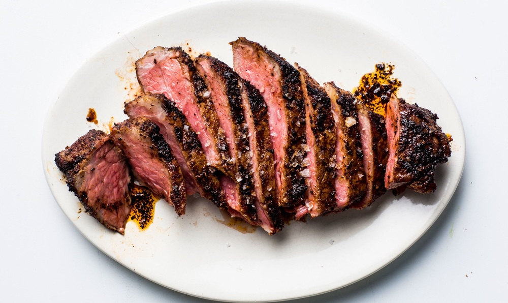 Coffee Rubbed Steak Sliced