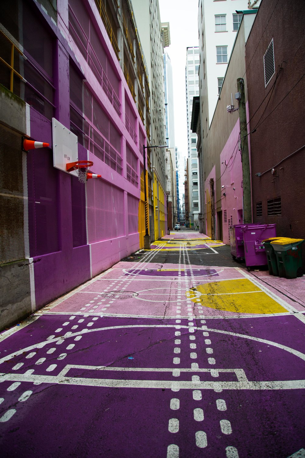 Alleyway Basketball Court in Vancouver