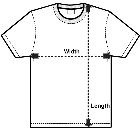 c918ba8f7581 If you want to get the best possible fit, you can always measure yourself  before choosing your shirt size. If you've never measured a T-SHIRT before  and ...
