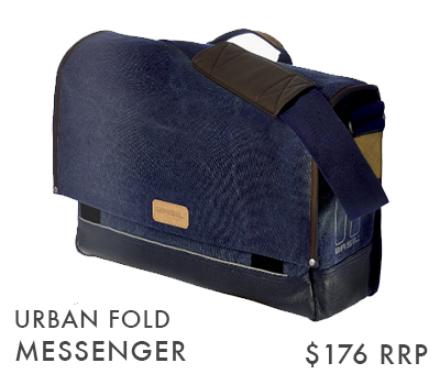 URBAN FOLD MESSENGER (RE-CYCLE) IN DEEP DENIM BLUE & IN BLACK