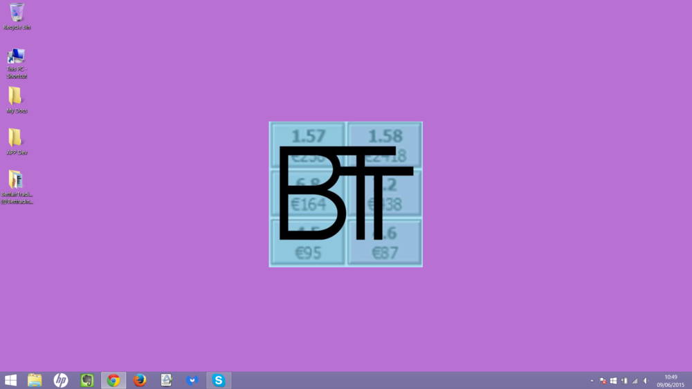 Only icons that are used a minimum of once every 2 days make it onto the BTT desktop or quick menu