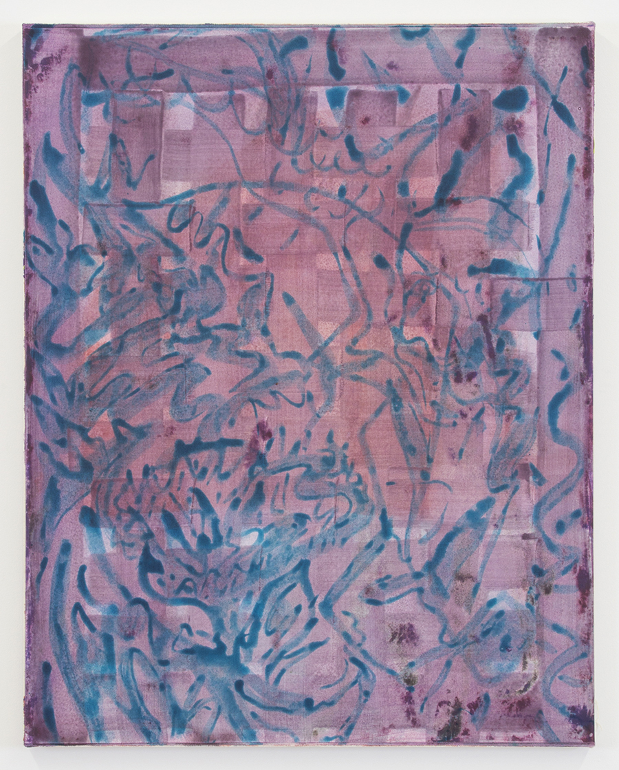 "Untitled rabbit skin glue, pigment and egg tempera on paper on canvas 29""x23"" 2015"