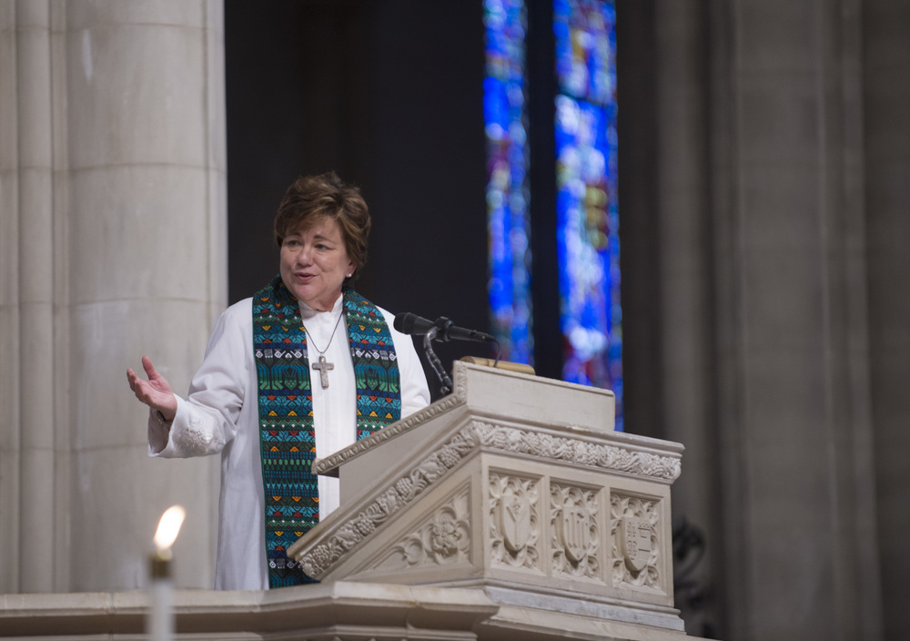 Rev. Kim Cape, General Secretary of the Commission  on  Higher Education and Ministry, preached at the Communion service.