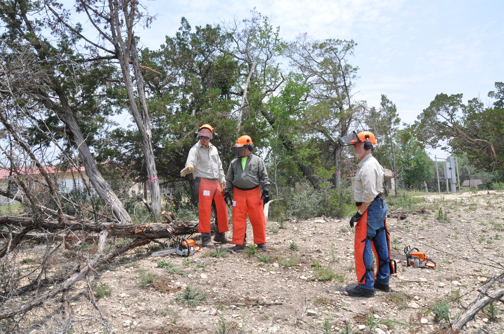 Chainsaw Team Training in Kerrville, Texas