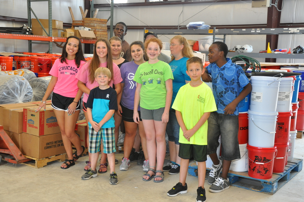 St Matthew United Methodist Church Youth Group Helped Clean the Kerrville Disaster Response Warehouse earlier this month.