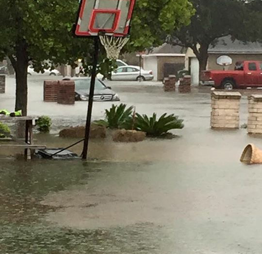 Weslaco saw extensive damage from this round of flooding.