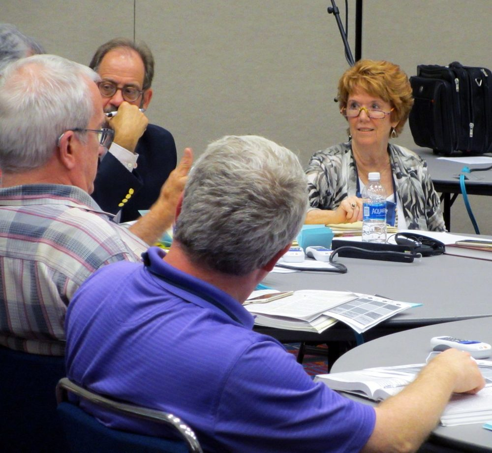 Rio Texas delegate Carol Loeb chairs a subcommittee of the General Conference Legislative Committee.  Photo: Virgilio Vasquez Garza