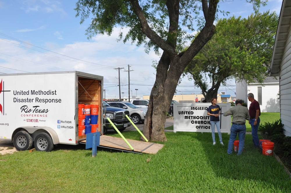 200 Flood buckets were taken to ingleside umc for distribution due to this week's floods.