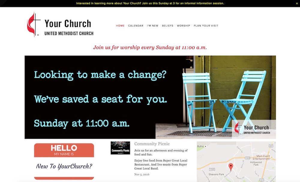 Your church can have a modern, effective website with no prior website experience necessary.