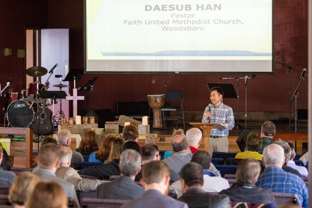 Dasub Han, Pastor of Faith United Church in Woodsboro shares his experience of crossing borders.