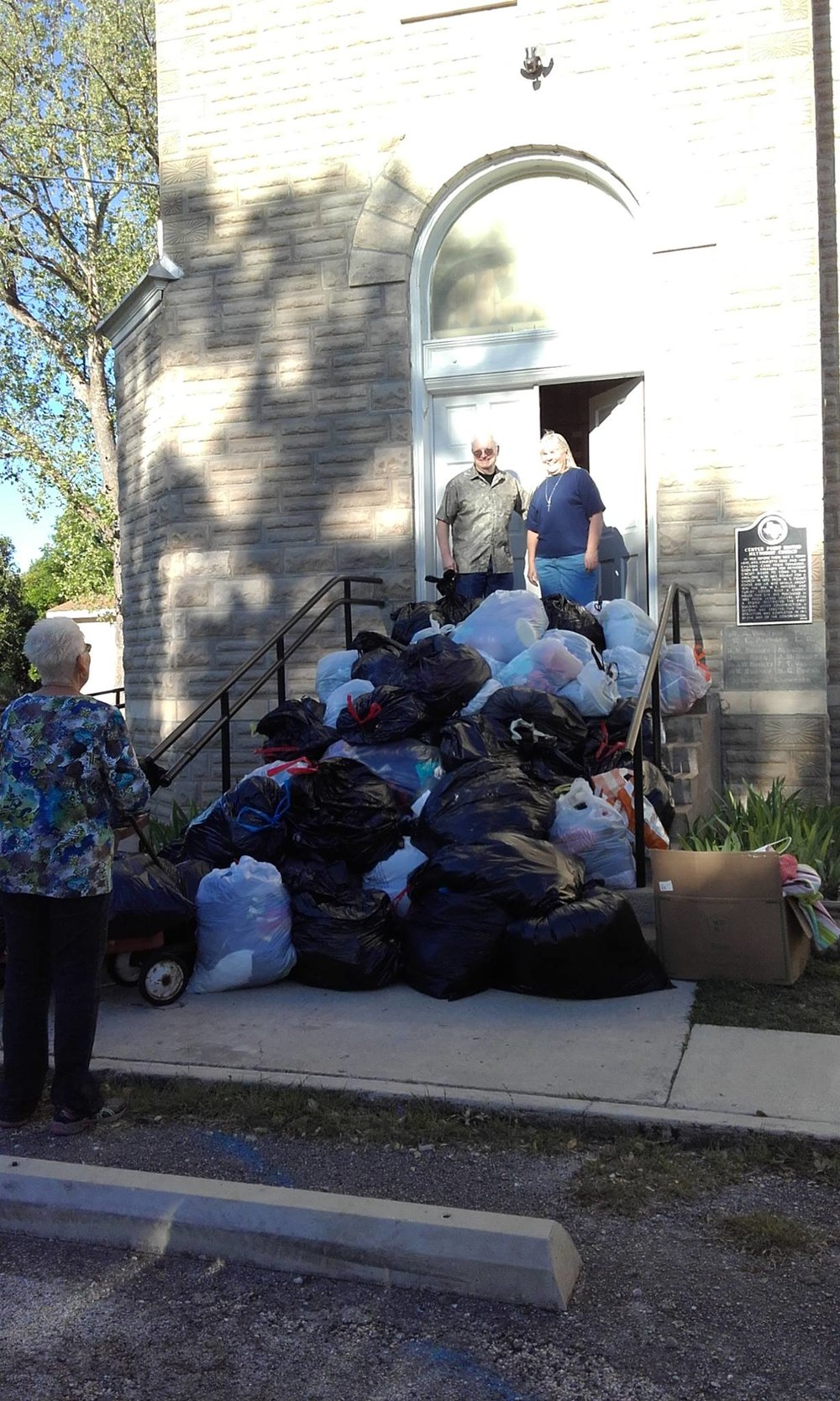 Centerpint UMC Adventist Disaster Clothing Drive pickup.jpg