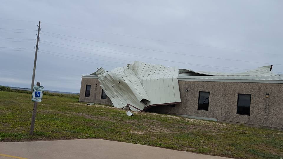 Island in the Son UMC, Corpus Christi sustained severe roof damage due to high winds.