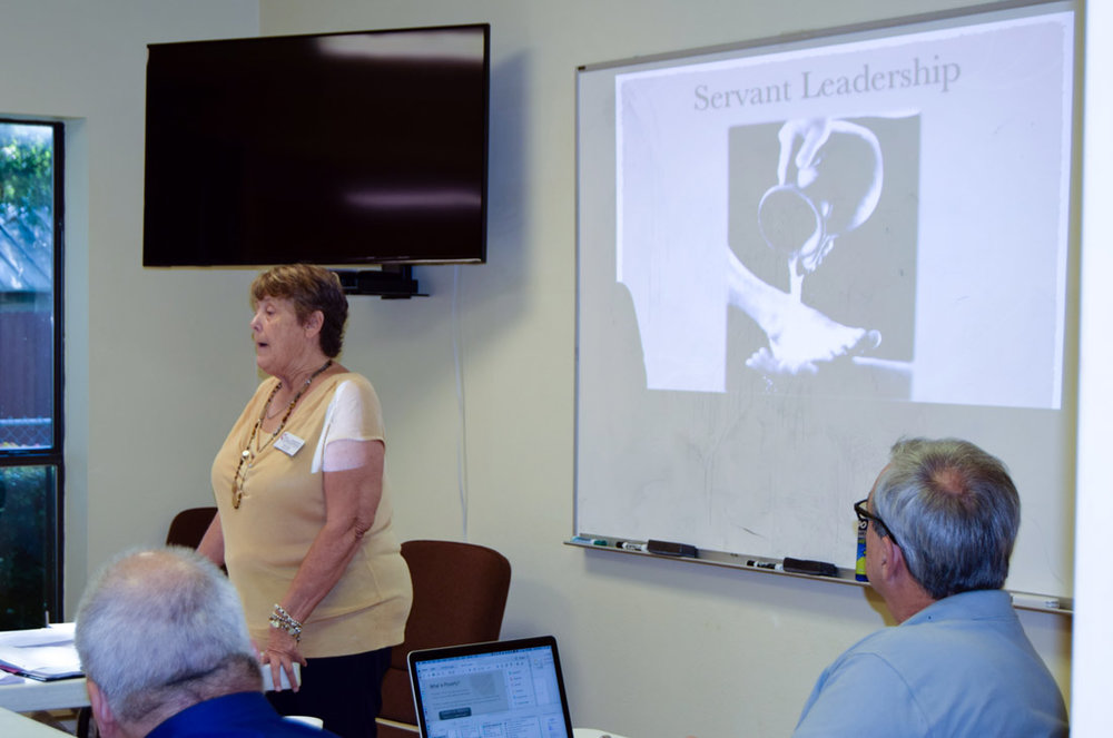 Pam Elliott describes servant leadership (photo: Laura Bray)