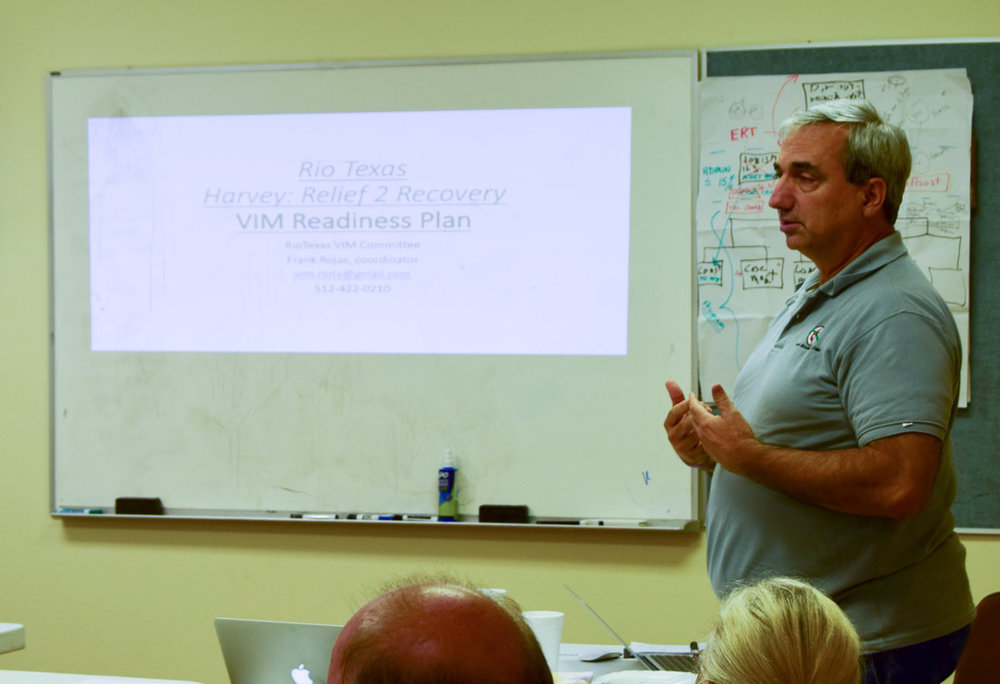 Frank Rojas outlines specific recovery needs for the Coastal Bend (photo: Laura Bray)