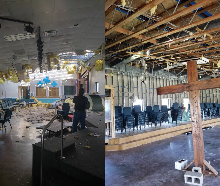 Island in the Son United Methodist Church is moving forward with repairs after major damage from Hurricane Harvey.
