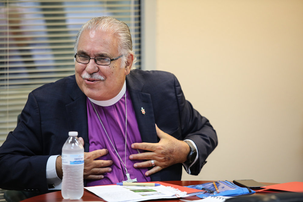 Bishop Ortiz met with leaders at the Rio Texas Conference. Photo by Rev. Will Rice