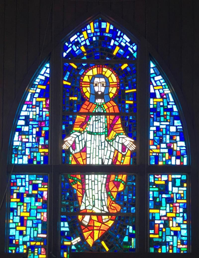STAINED GLASS IMAGE FROM  INGLeSIDE UMC