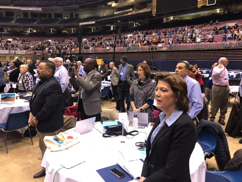 Members of the Rio Texas Conference delegation to General Conference 2019 - Photo courtesy Laura Merrill