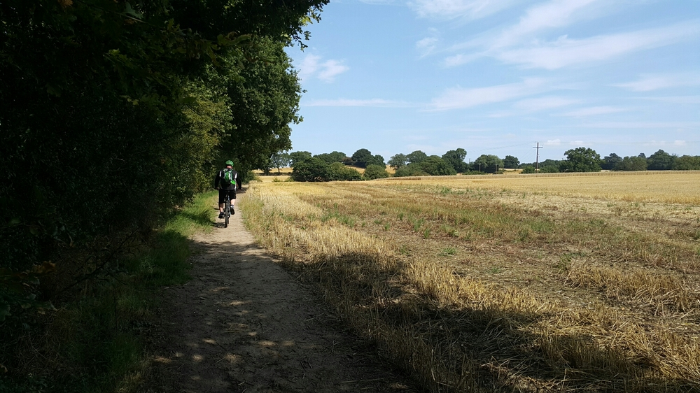 Typical path across the fields