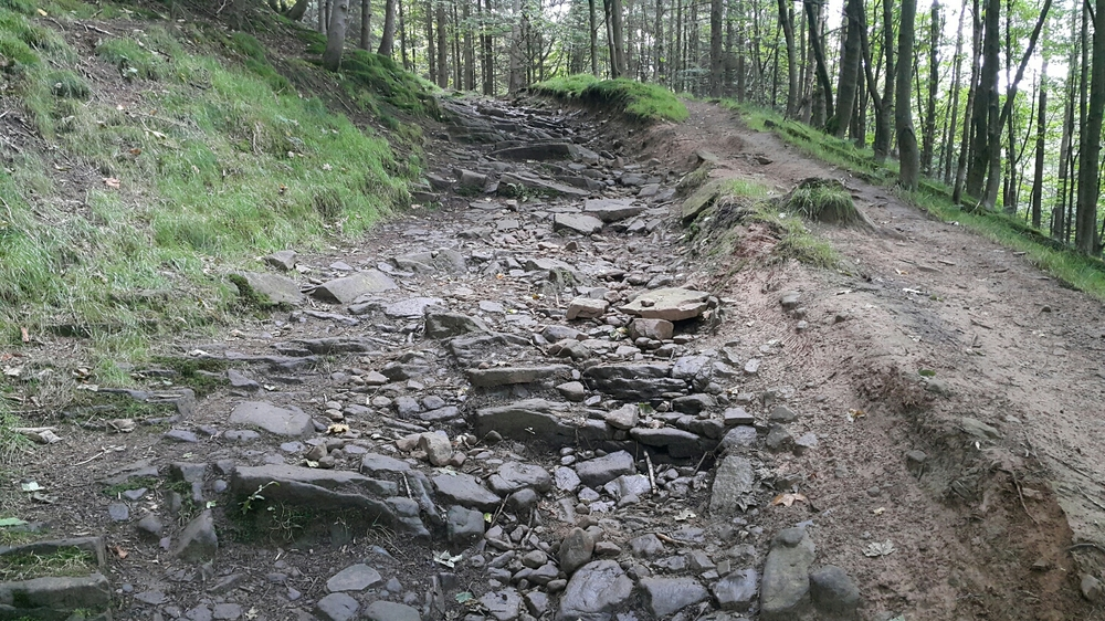 The Beast of Hope cross. Aptly named rocky down hill. Very slippery and loads of fun