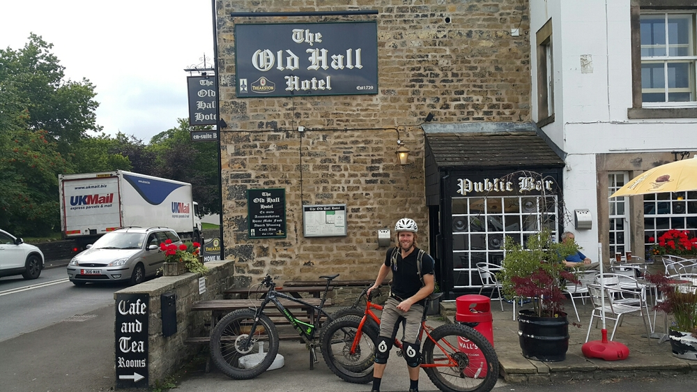 Ye Olde pub. Had to have a beer after the ride