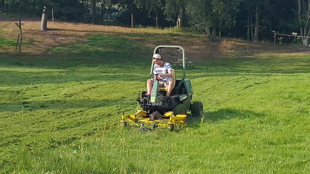 Ben getting some mower time sorting out the paddock.