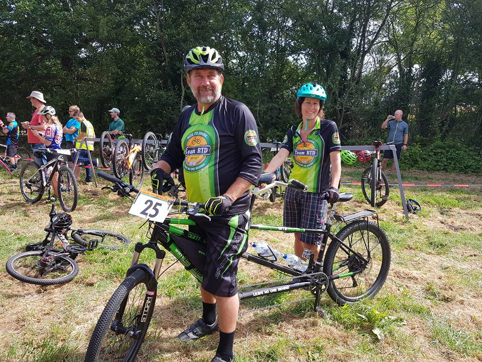Amanda & I at a local MTB race in Essex, England.