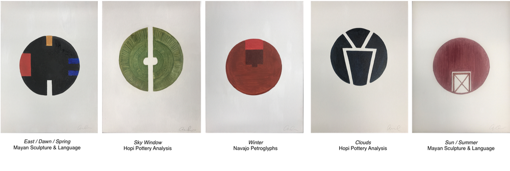 The Circle Motif - Mineral Painting Collection available at LA Gallery Tappan Collective
