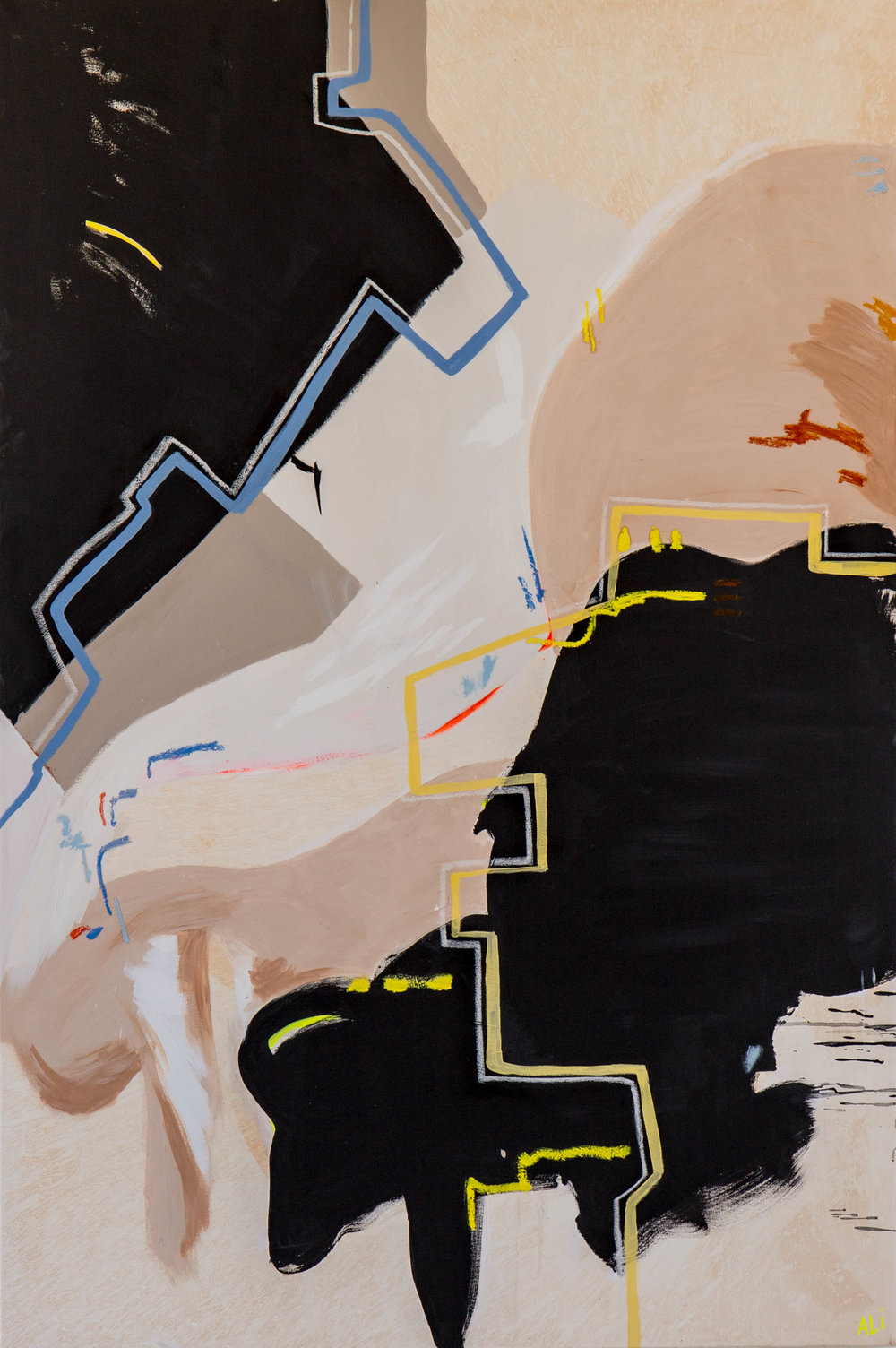 """And the Air   Clay, Pigment, Acrylic and Oil on Canvas 72"""" x 48"""" $5400 - On Hold"""