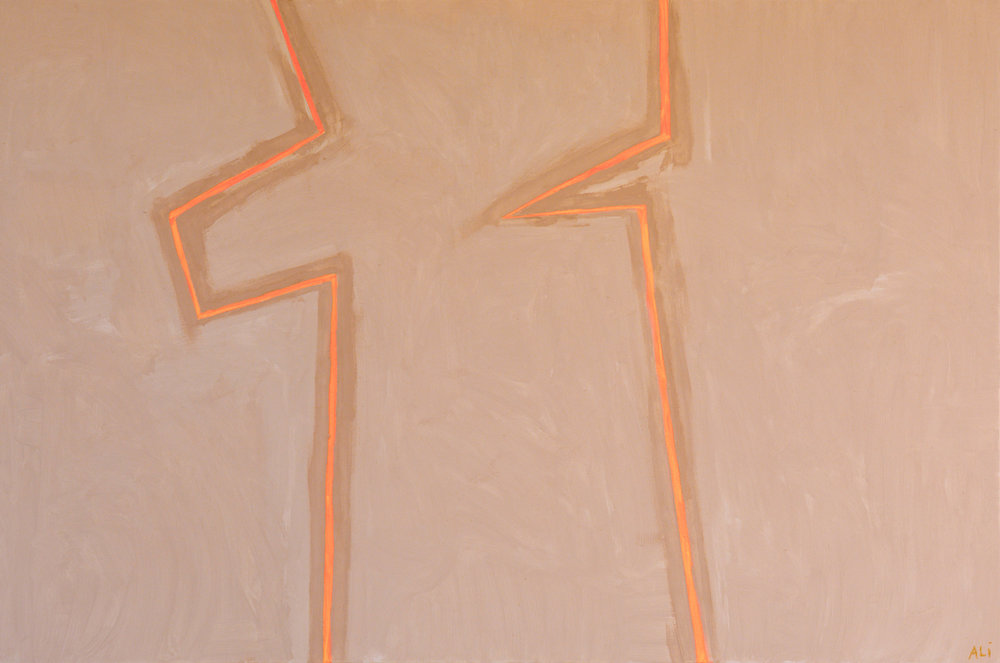 """Icons   Clay, Pigment, and Acrylic on Canvas 48"""" x 72"""" $5400"""