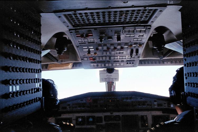 Flying over Nepal.