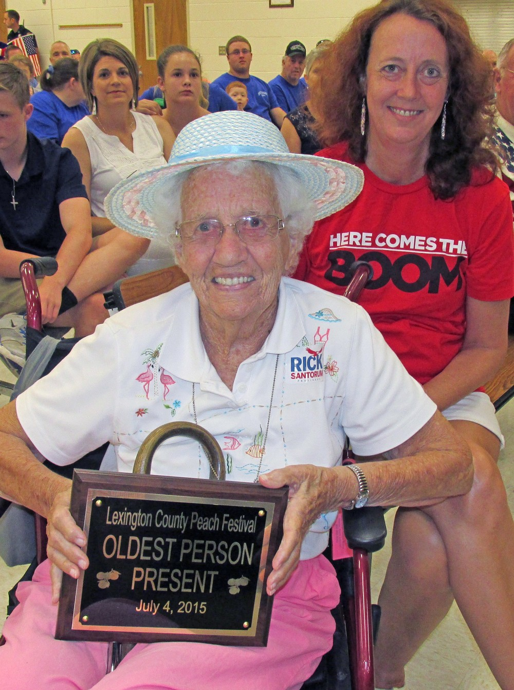 Helen Sexton, age  95, was the oldest person in attendance at last year's 11 a.m. program.