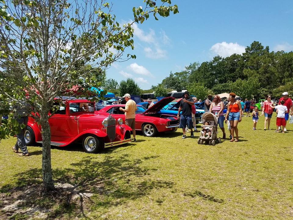 Festival guests enjoy the various cars on display at the 2017 Lexington County Peach Festival.
