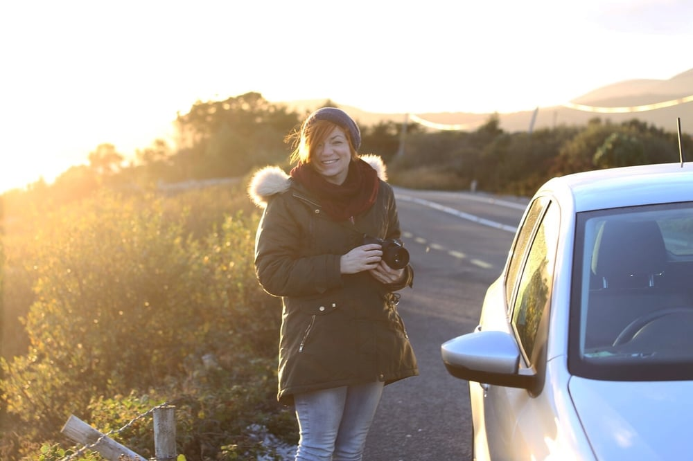 Jessica in the Ring of Kerry.