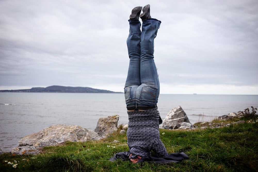 Headstands are good to do everywhere.