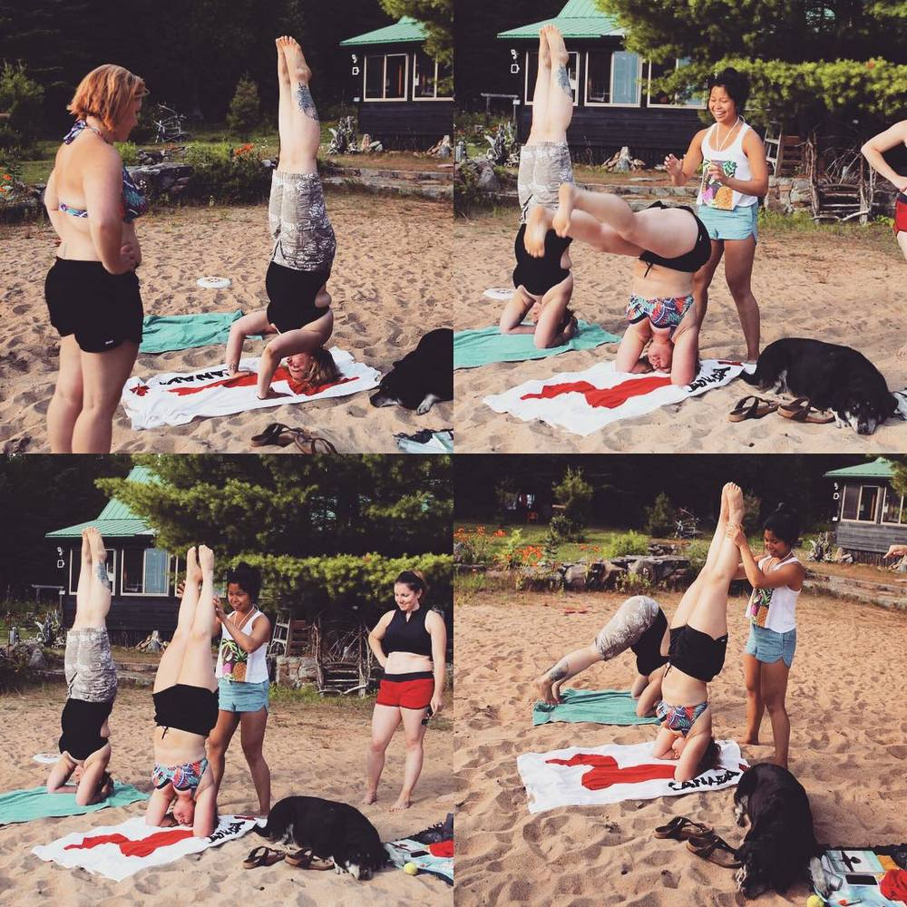 Being taught how to headstand then being able to teach my friends are things that make me happy. Train it forward!    Sunday, August 9th, 2015