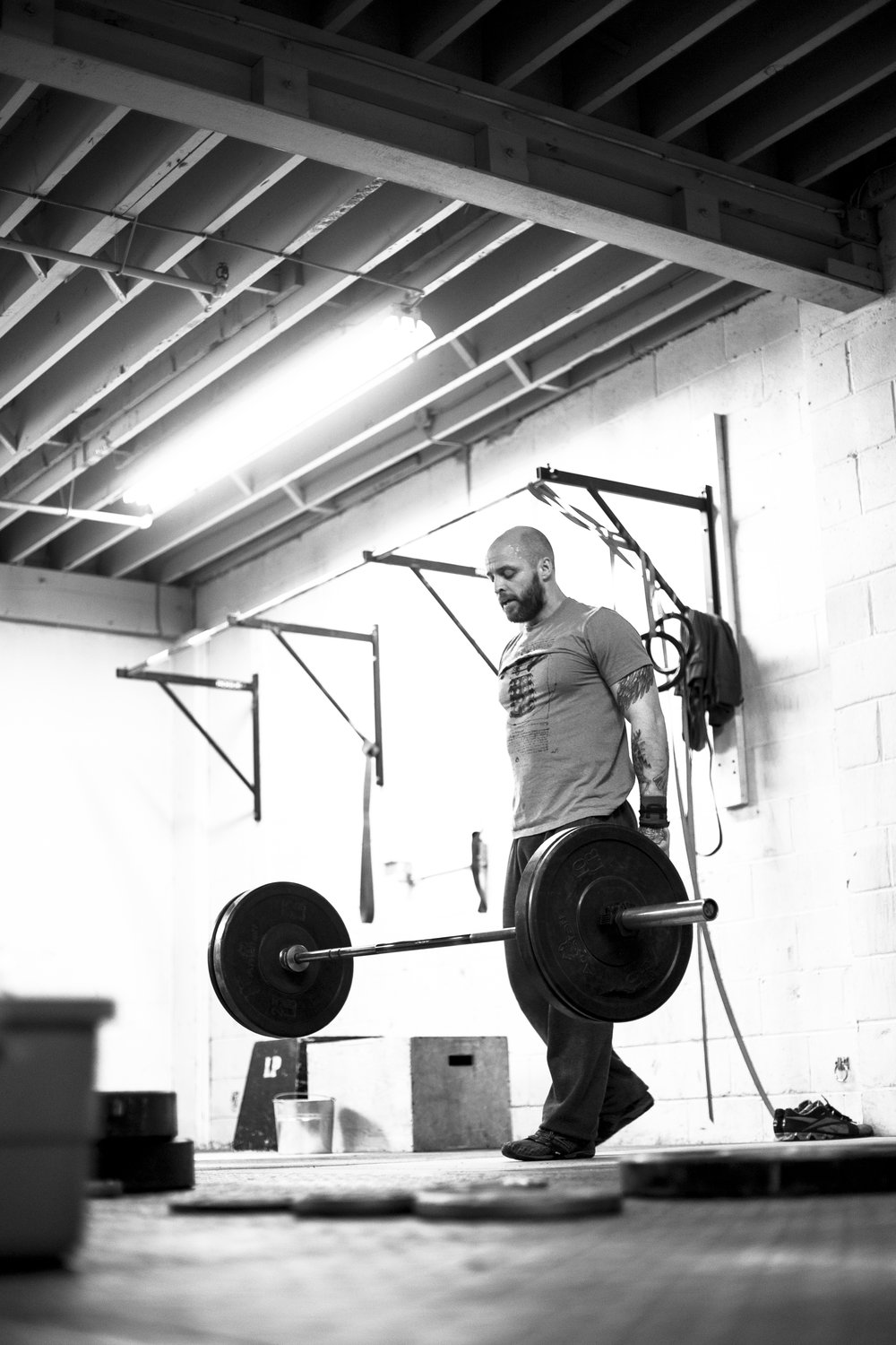 Owner of West Toronto Crossfit, Jeff MacWilliams, during the Crossfit Open 2015